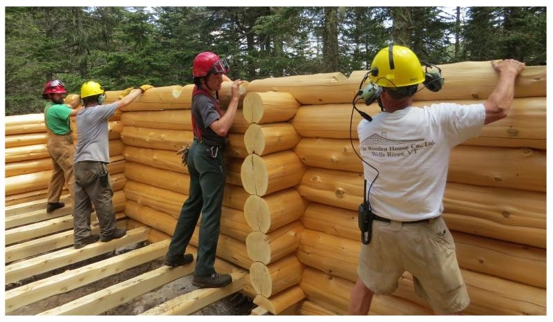 An Inside Look At The Construction Of AMCu0027s Newest Shelter At Speck Pond In  Maine